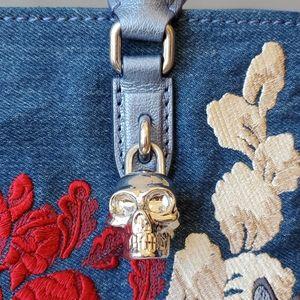 Alexander McQueen Bags - Alexander McQueen V2VCO Padlock Small Denim Satche